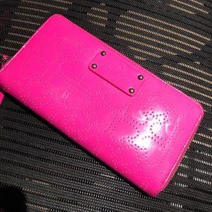 Pink Kate Spade Zippered Wallet